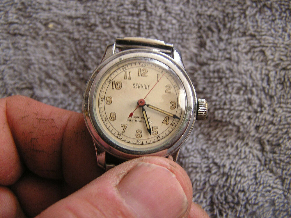 Vintage cervine non magnetic shock proof watch ebay for Magnetic watches