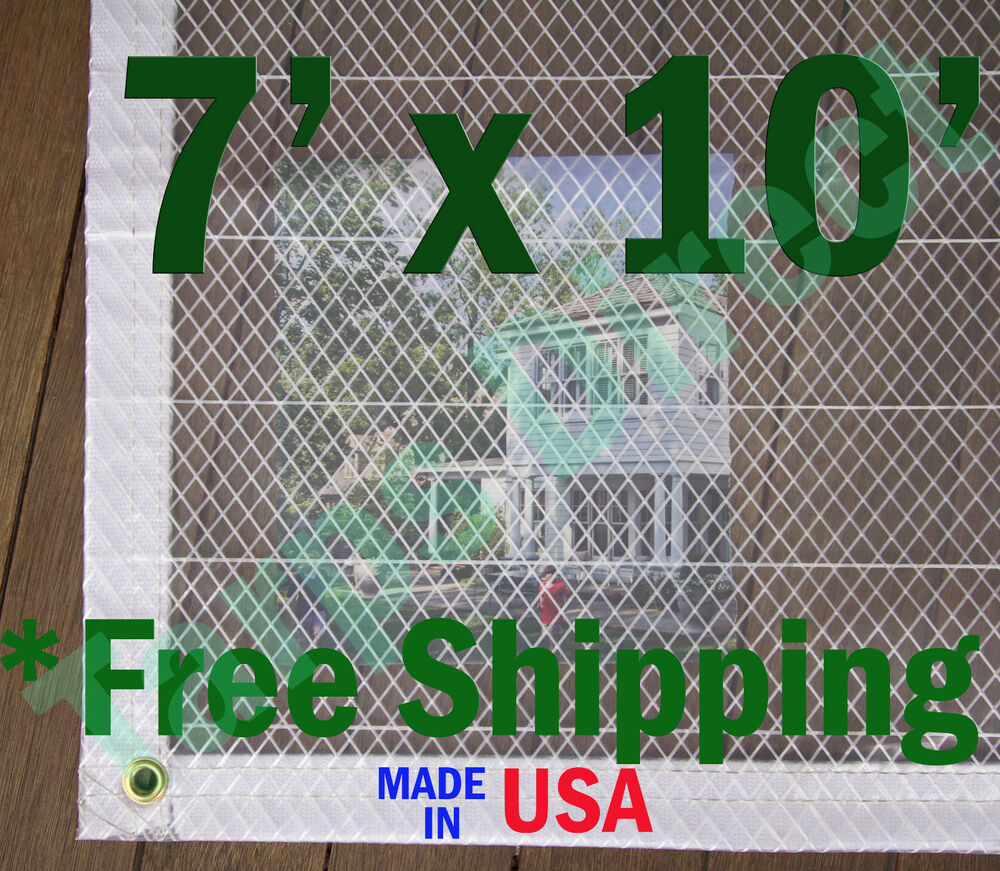 7 Ft X 10 Ft Clear Poly Tarp 7 Oz Ebay