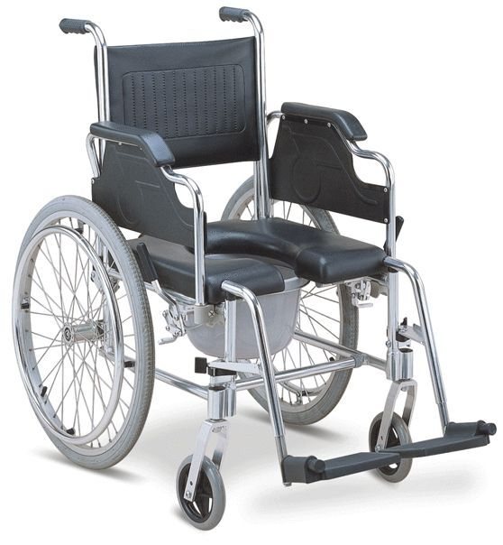 3 In 1 Commode Wheelchair Bedside Toilet Amp Shower Chair Rust Free Aluminum Frame Ebay