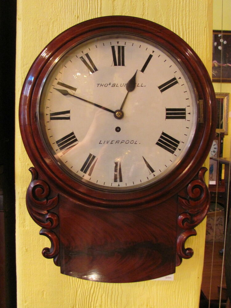 Antique Thomas Blundell Mahogany Clock Circa 1860 Ebay