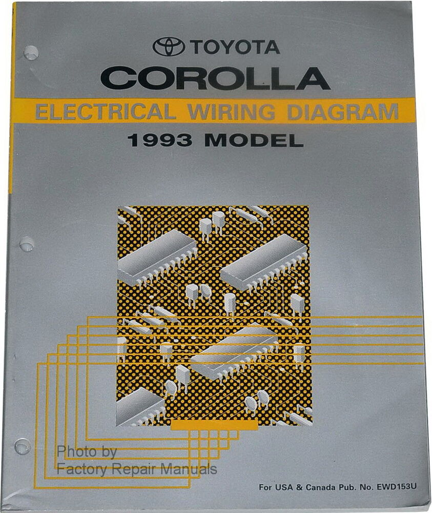 1993 Toyota Corolla Electrical Wiring Diagrams