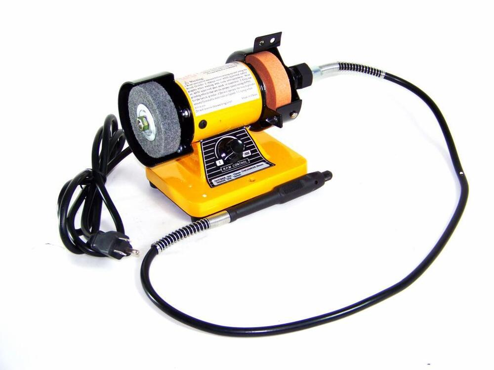 Rotary Flexible Shaft Die Carving 3 Quot Mini Bench Grinder Ebay