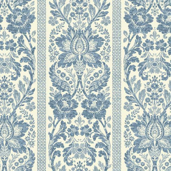 Wallpaper Sample Colonial Blue Stripe Damask Ebay