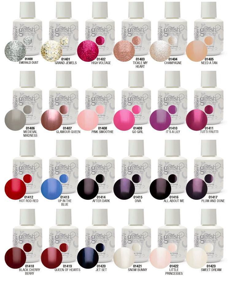 Gel Nail Polish Colors: Nail Harmony GELISH Soak Off Gel Polish ALL COLORS .5oz