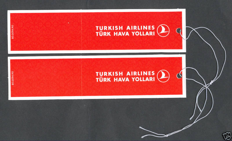 Turkish Airlines Baggage Tags New | eBay