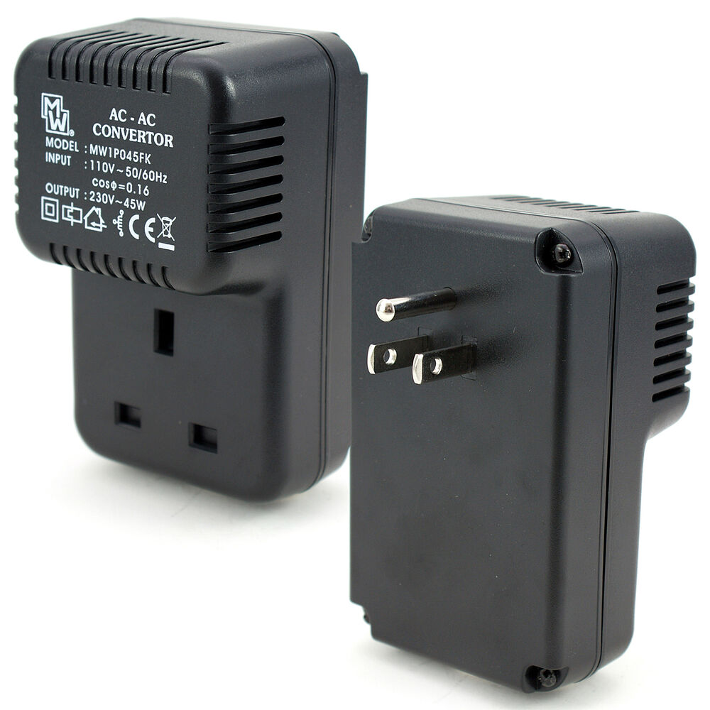 us to uk voltage converter us plug to uk socket voltage step up converter 110v 230v 45w travel