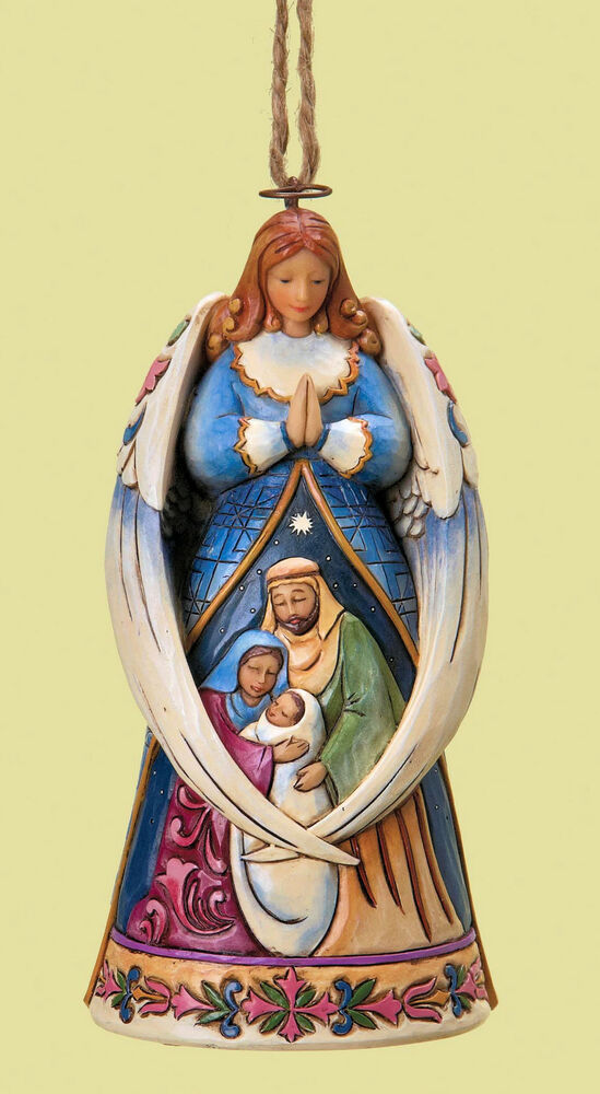 Angel holy family hanging christmas decoration 15572 ebay for Angel of the north christmas decoration