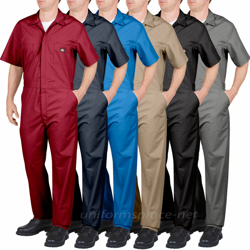 Dickies Coveralls Mens Short Sleeve Coverall 339933999 Red Grey