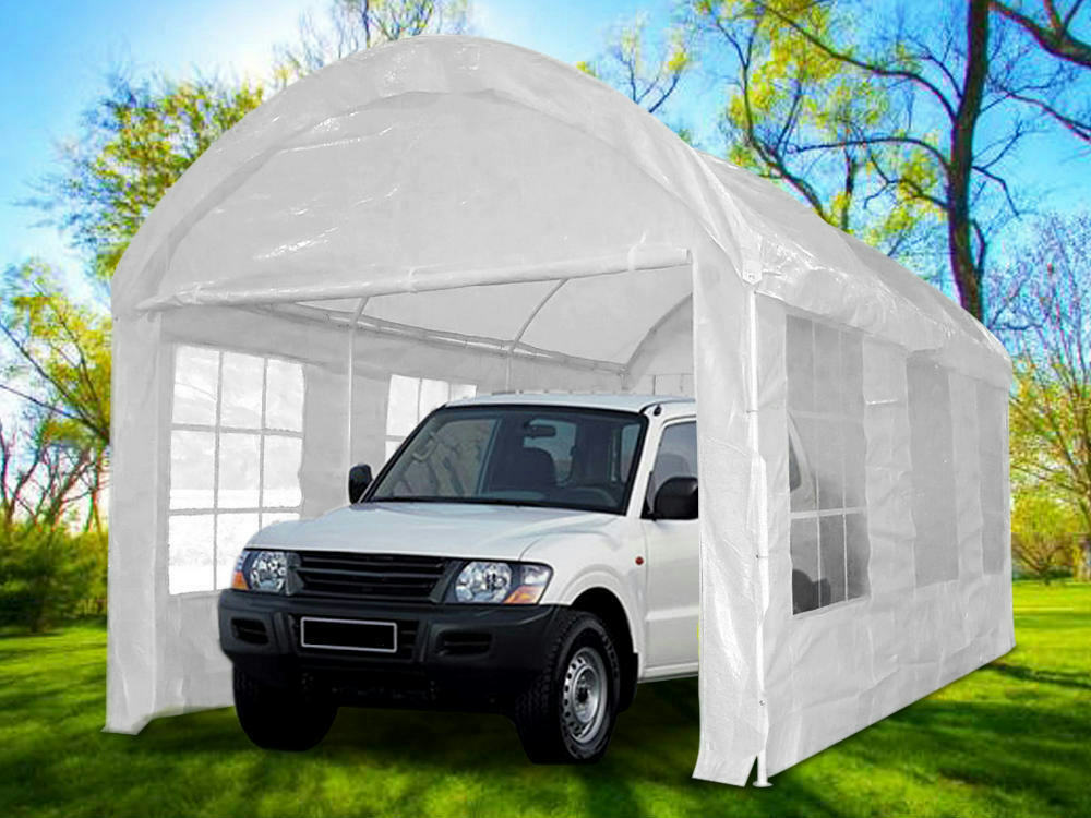 Instruction To Set Up A Portable Carport : Heavy duty carport garage canopy party tent