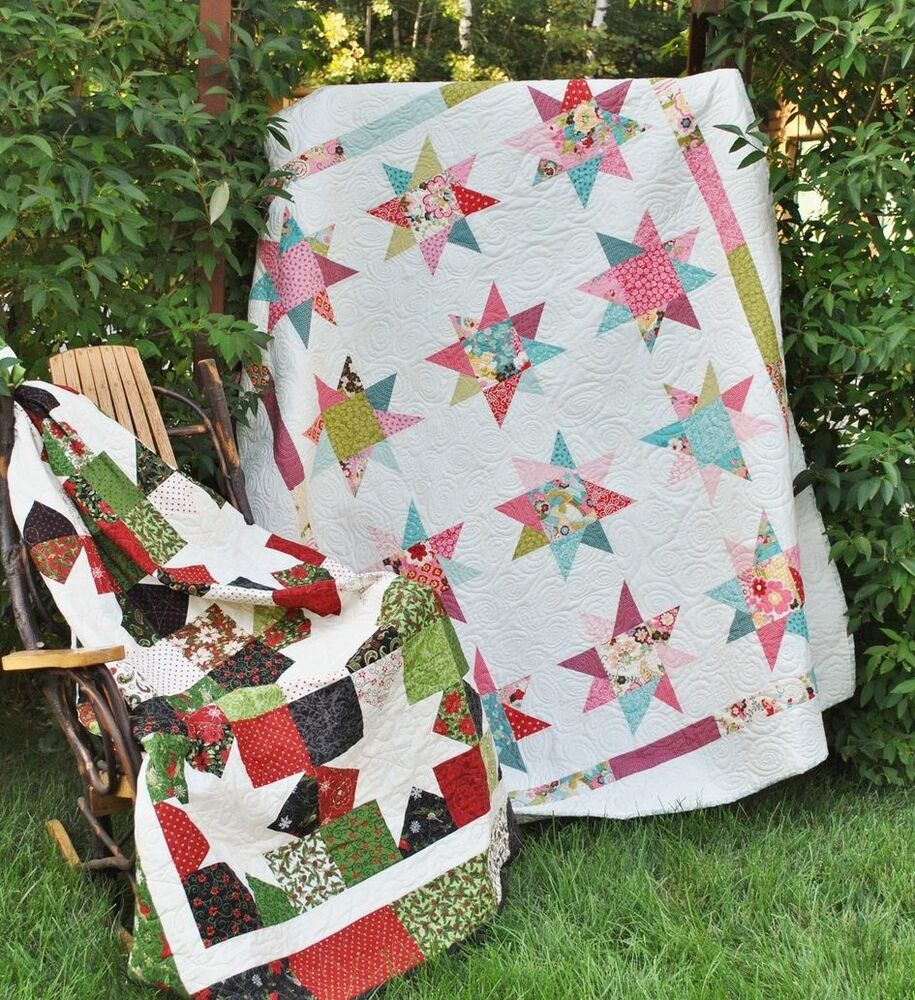 Layer Cake Quilt Patterns Easy : QUILT PATTERN Layer Cake or Fat Quarters, Quick & Easy ...