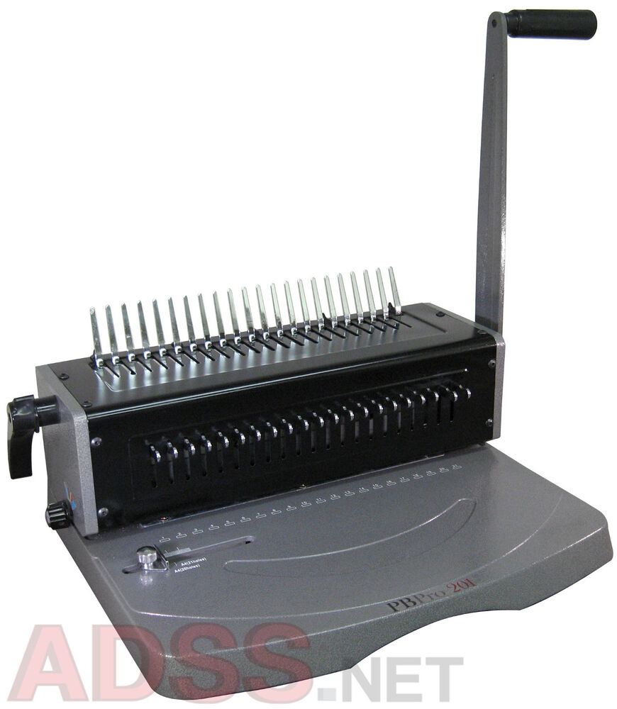 New Pbpro 201 Heavy Duty Plastic Comb Binding Machine Ebay