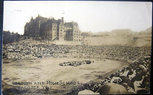 Tacoma WA~1900's FOOTBALL GAME~STADIUM~HIGH SCHOOL~RPPC | eBay