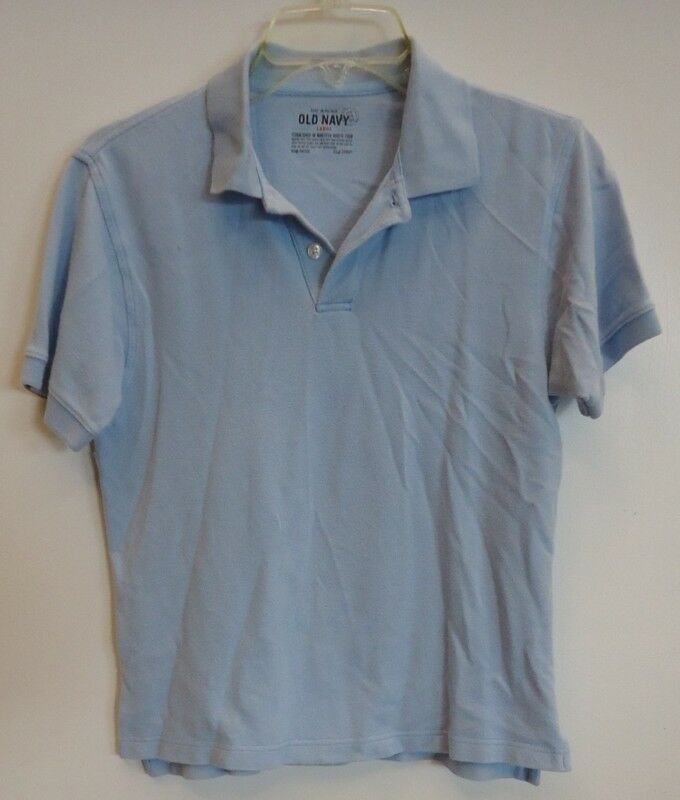 Old navy polo shirt womens size l cotton good deal ebay for Old navy school shirts