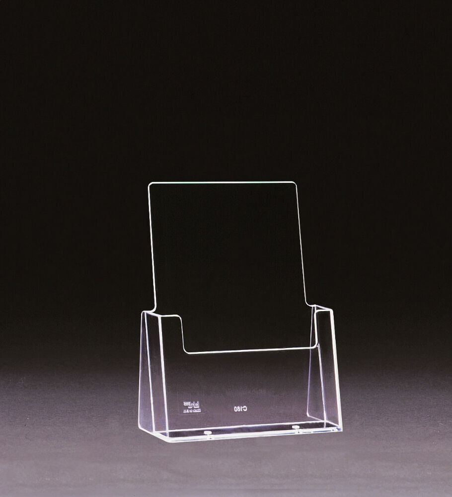 5 x a5 perspex leaflet holders brochure stands for Plastic flyer stand