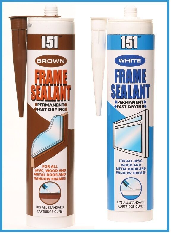 Frame Sealant Cartridge White Or Brown Upve Wood Door