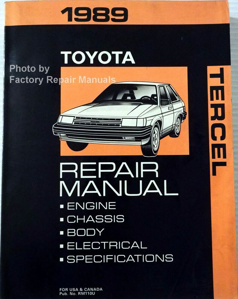 1989 Toyota Tercel Factory Service Manual Original Shop Repair Book | eBay