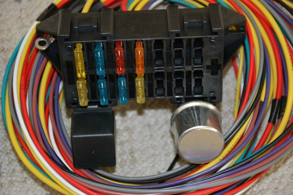 10 circuit basic wire harness fuse box street hot rat rod ... automotive wire connector wiring harness wire toner wiring harness