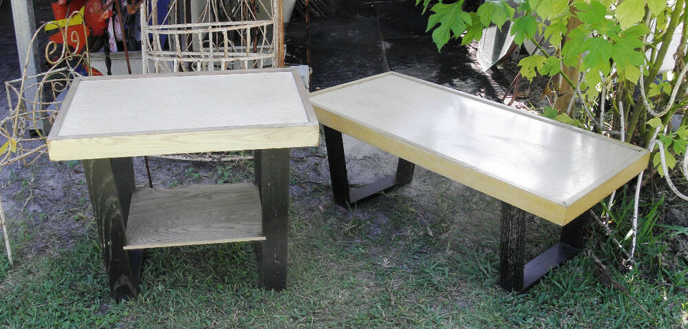 Oak ash retro mid century coffee table and end table 60 for Coffee tables 70s
