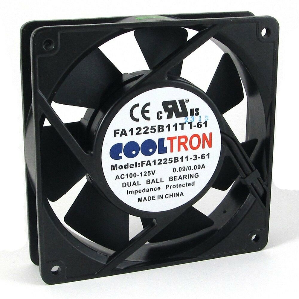 gm cooling fan wiring 110v / 115v / 120 v ac axial cooling fan. 120mm x 25mm ... 115v cooling fan wiring