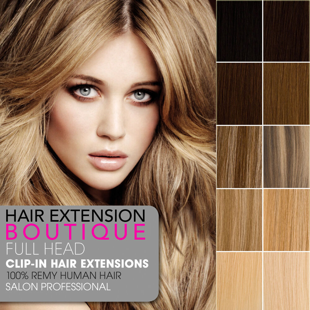 """Lush Hair Extensions 12"""" Clip In Remy Human Hair Extensions Full Head ..."""