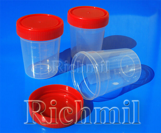 10x 100ml 120ml 3oz Plastic Specimen Sample Jar