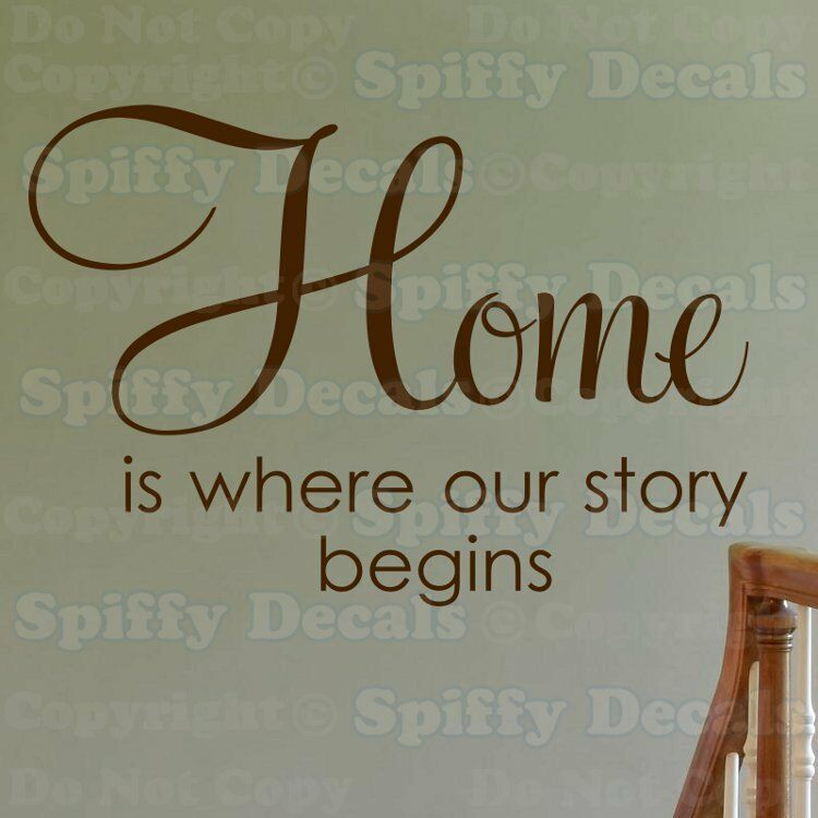 Home Is Where Our Story Begins Quote Vinyl Wall Decal