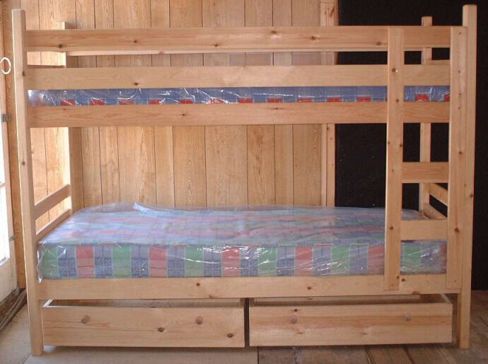 Narrow pine bunk beds 76cm 2 39 6 mattress size can be for Narrow width bunk beds