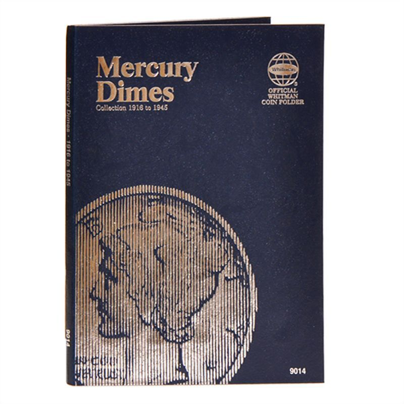 Whitman coin folder 9014 mercury dime 1916 1945 ebay for Mercerie nimes