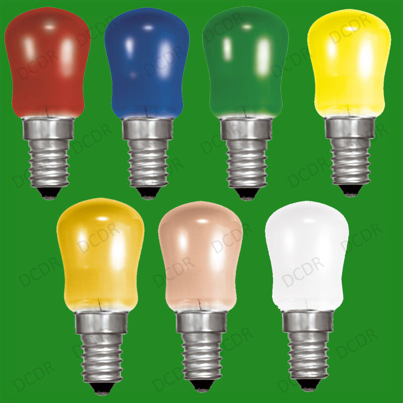 4x 15w Coloured Pygmy Sign Light Bulbs Display Lamp Small Screw Cap Ses E14 Ebay