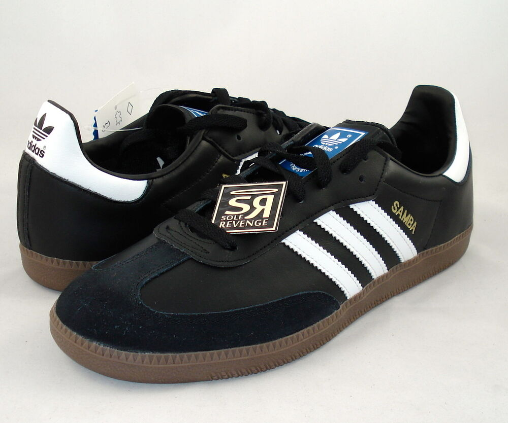 New! Adidas Originals Samba Classic Shoes Black 401765 ...