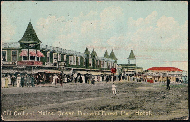 old orchard beach me maine ocean pier forest pier hotel. Black Bedroom Furniture Sets. Home Design Ideas