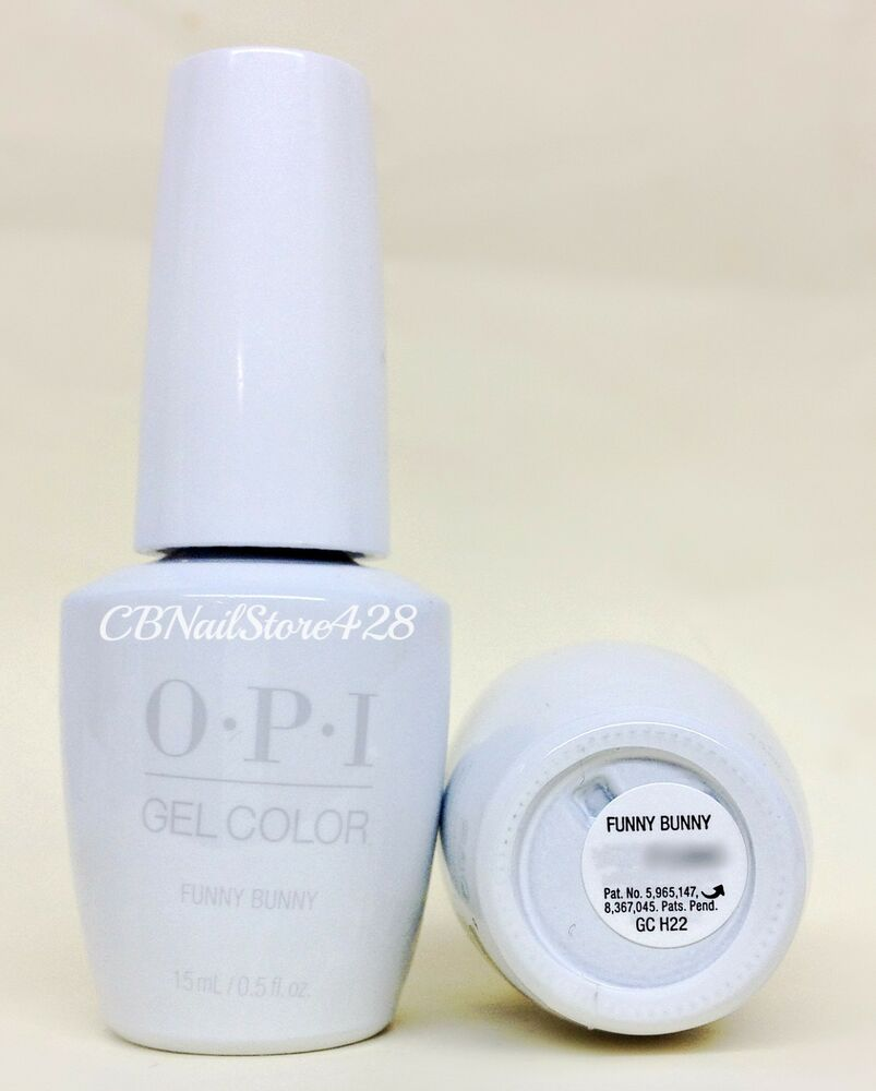 Nail Polish Package: New Package Gelcolor Nail Polish- Opi FUNNY BUNNY GC H22