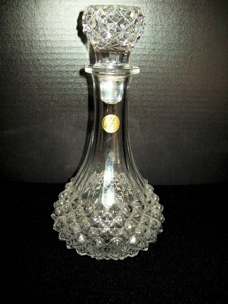 jg durand cristal d 39 arques longchamp decanter mint ebay. Black Bedroom Furniture Sets. Home Design Ideas