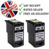 2x PG40 Black Ink Cartridges For Canon PIXMA MP450 MP470 Printers