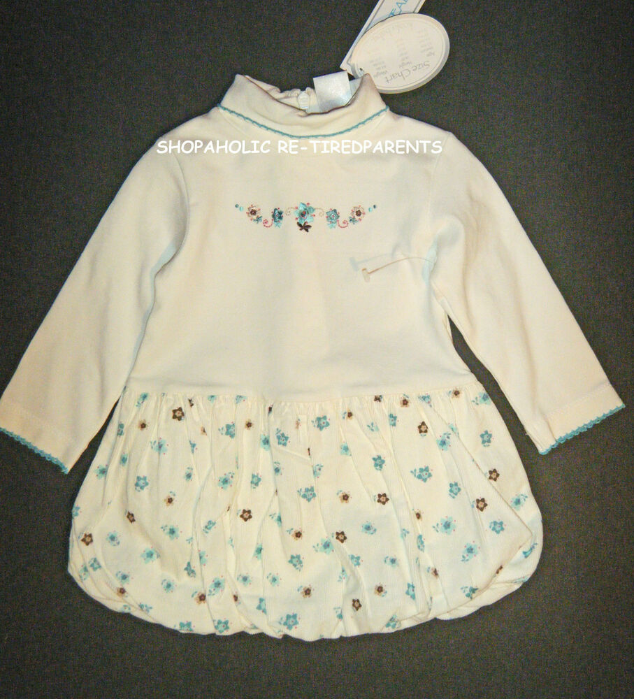 Koala Baby Dress Ivory Amp Teal Girls Infant Size