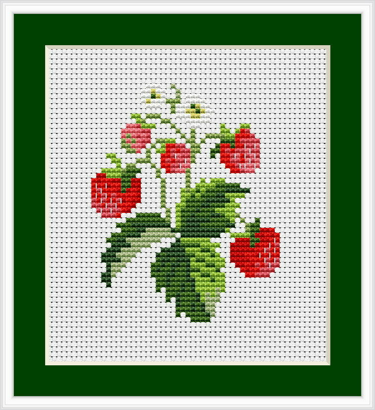 Strawberries cross stitch kit luca s beginner cm