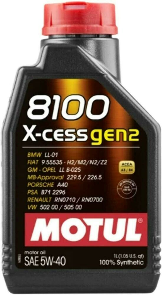 102784 motul 8100 1 liter 5w 40 x cess engine oil 502 00. Black Bedroom Furniture Sets. Home Design Ideas