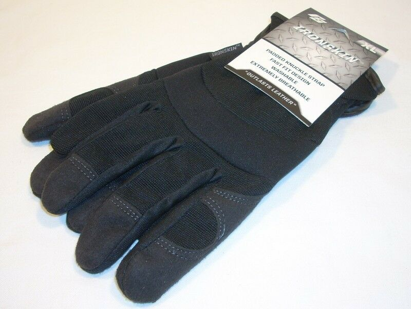 Red Steer Gloves : Red steer ironskin gloves black leather wing thumb unlined
