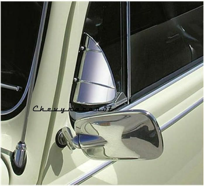 Stainless steel accessory vent wing window air deflector