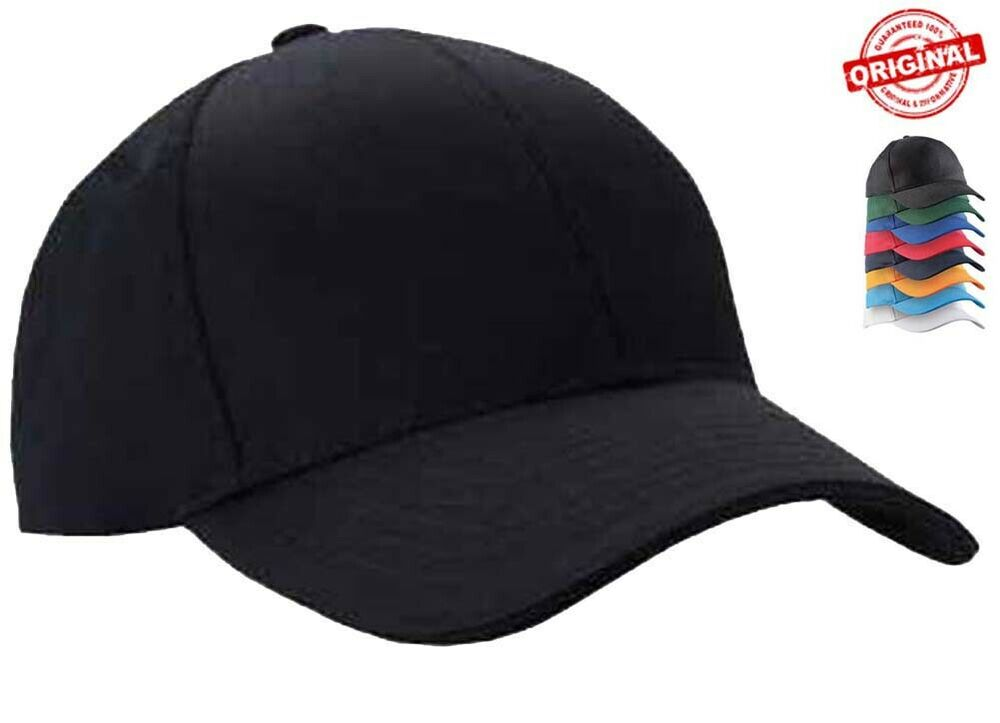 mens classic plain adjustable baseball caps by mig work casual sports leisure ebay. Black Bedroom Furniture Sets. Home Design Ideas