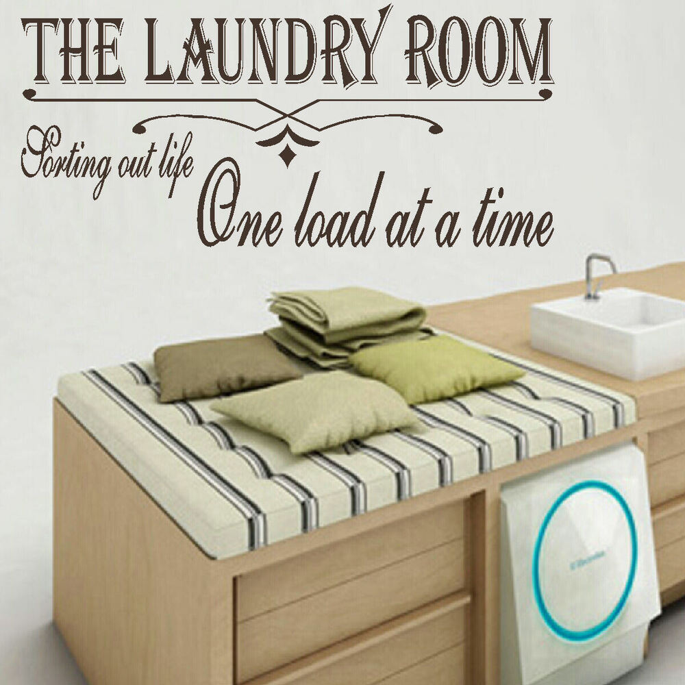 large laundry room quote sort life one load time wall art