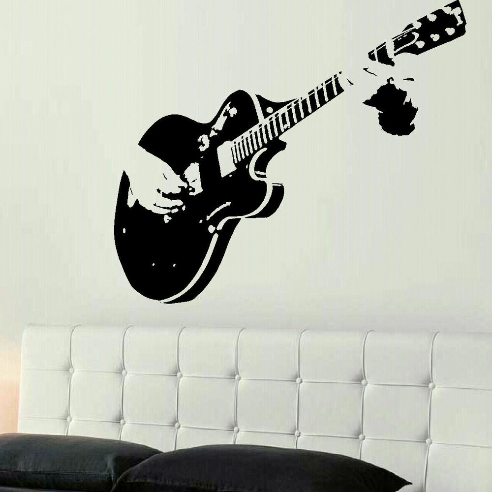 Xtra Large Guitar Guitarist Wall Giant Art Mural Sticker