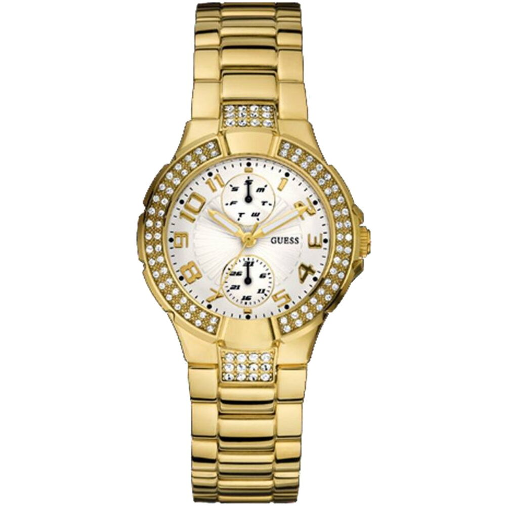 Guess Prism Ladies Watch Stone Set Gold Plated Stainless ...