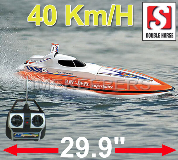 7007 double horse flying fish remote radio control rc for Rc boat fishing