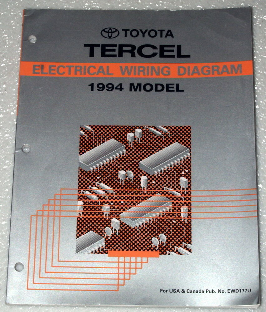 1994 Toyota Tercel Dx Dlx Le Original Electrical Wiring Diagrams Shop Manual 94