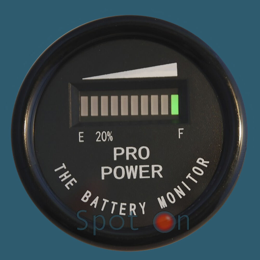 Fork Lift Gauge : Quot volt round battery indicator meter gauge boat