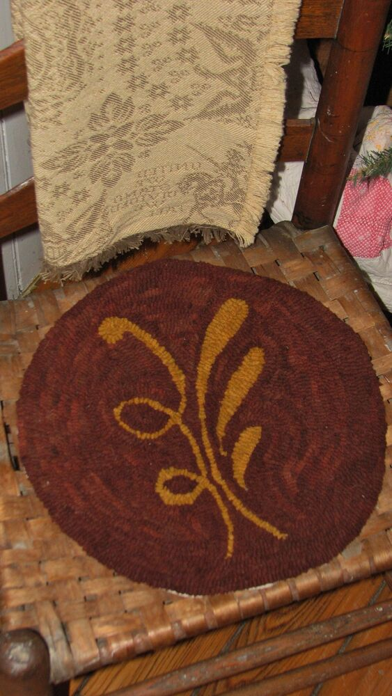 Primitive Rug Hooking Kit On Monks Quot Redware Chair Pad