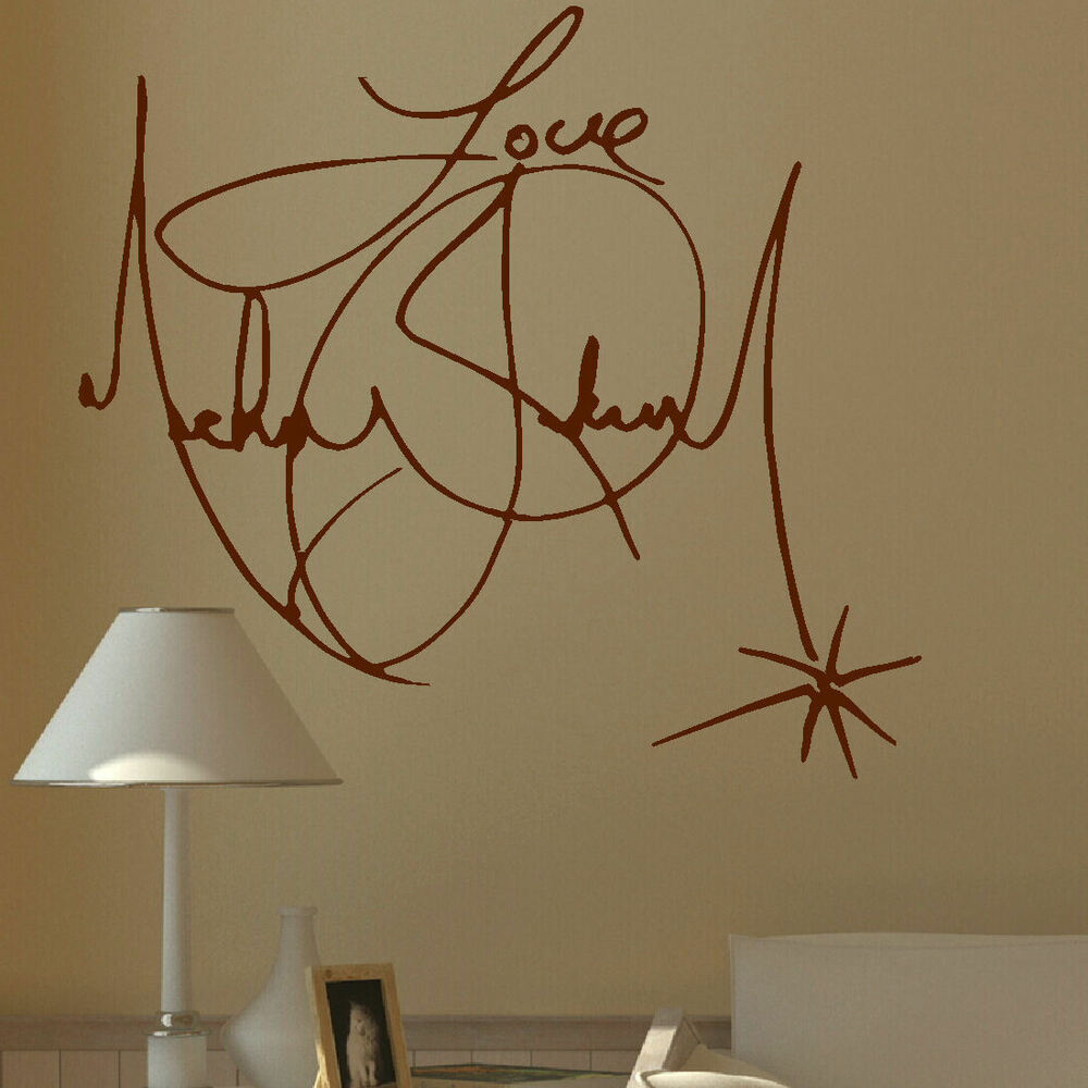 Large Michael Jackson Signature Charity Wall Mural Giant