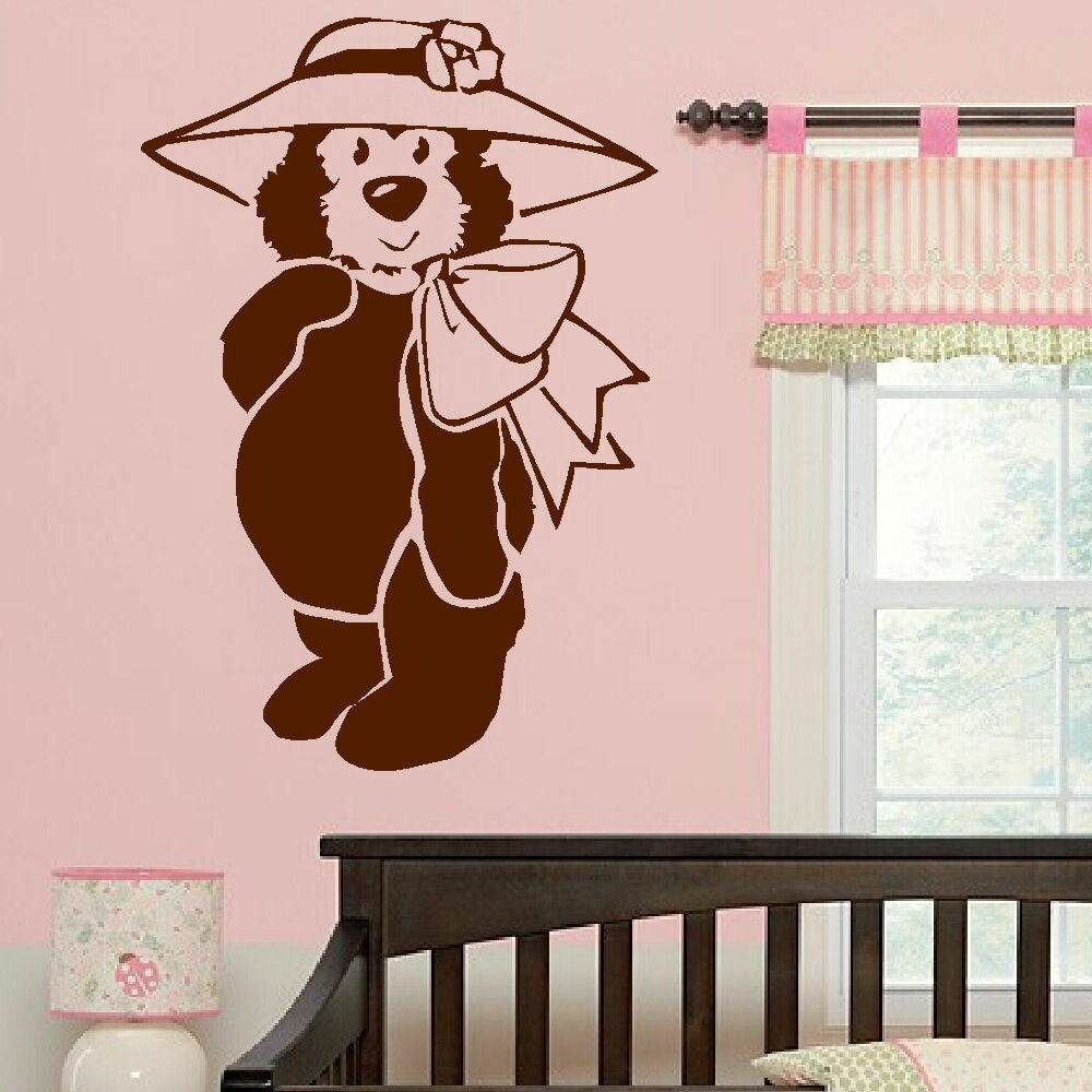 Large Nursery Baby Teddy Bear Wall Art Big Mural Transfer