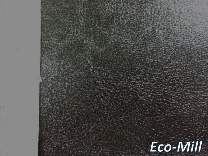 Vancouver Black Upholstery Fabric Faux Leather Soft Hand